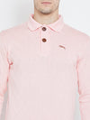 JUMP USA Men Pink Casual Sweaters_5
