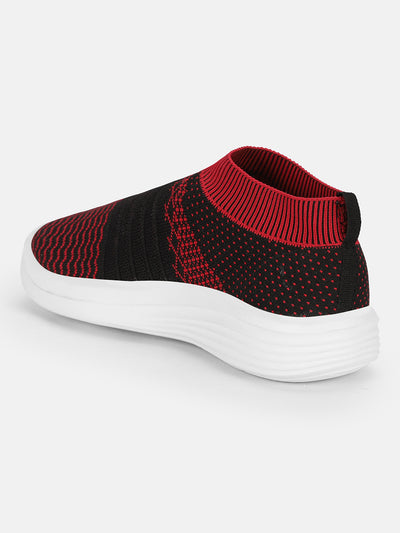JUMP USA Women's Textured Black Smart Casual Sneakers Shoes - JUMP USA