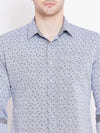 JUMP USA Men White Printed Casual Slim Fit Shirts_4