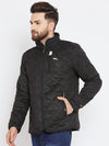 Men Black Solid Quilted Jacket - JUMP USA