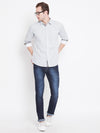 Men White Printed Casual Relaxed Fit Shirts - JUMP USA