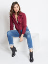 JUMP USA Women Red Casual Tailored Jacket - JUMP USA