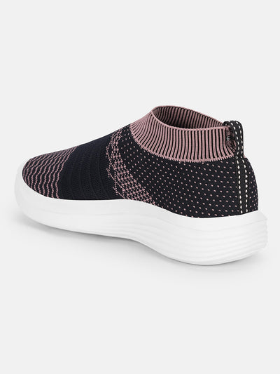 JUMP USA Women's Textured Blue Smart Casual Sneakers Shoes - JUMP USA