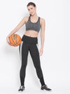 JUMP USA Women Black Active Wear Tights - JUMP USA