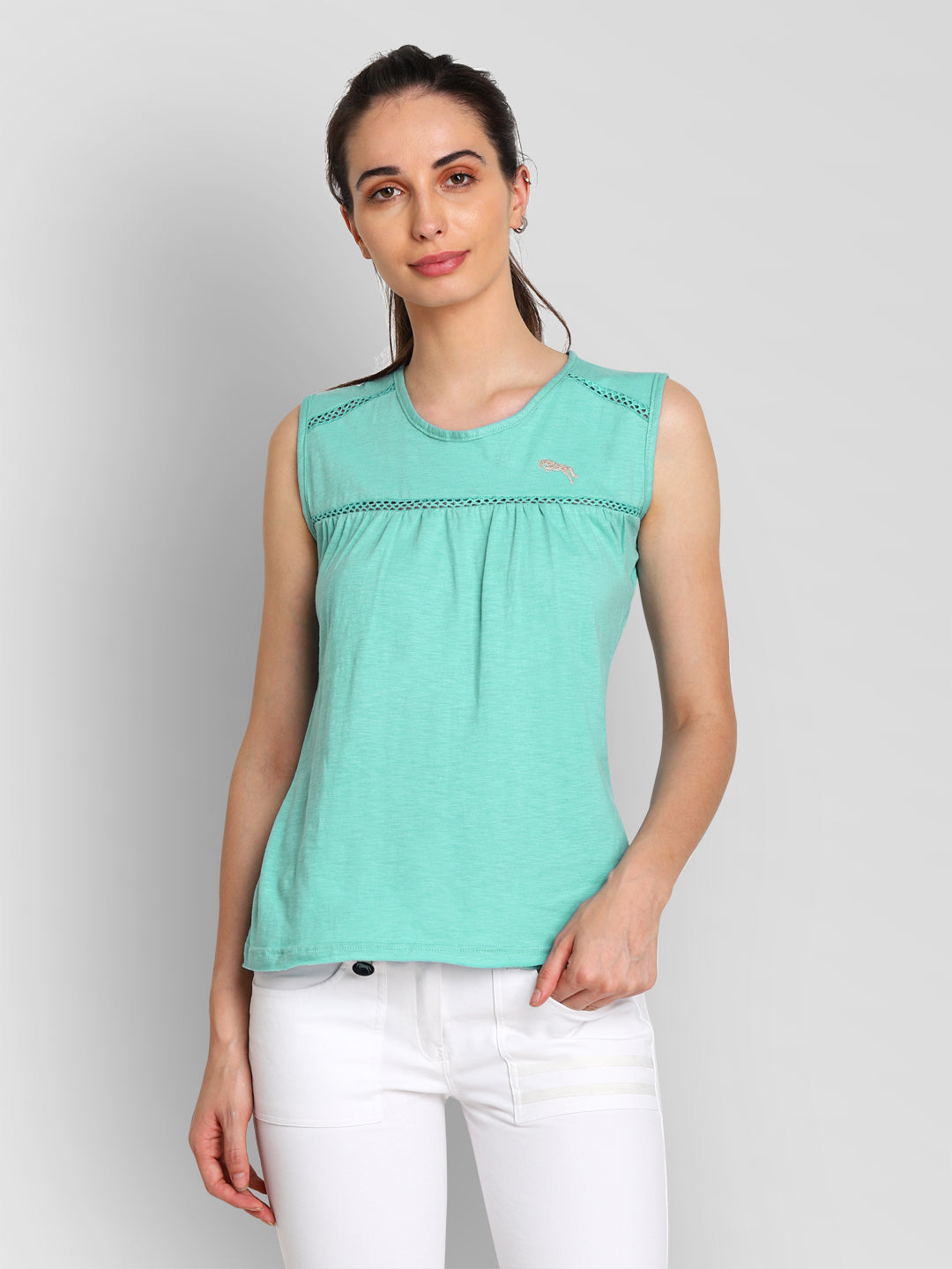 JUMP USA Women Blue Solid Regular Top - JUMP USA