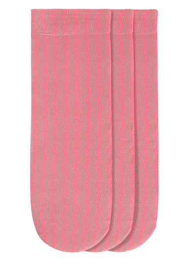 JUMP USA Women's Cotton Ankle Length Socks (Pink, Free Size) Pack of 3 - JUMP USA