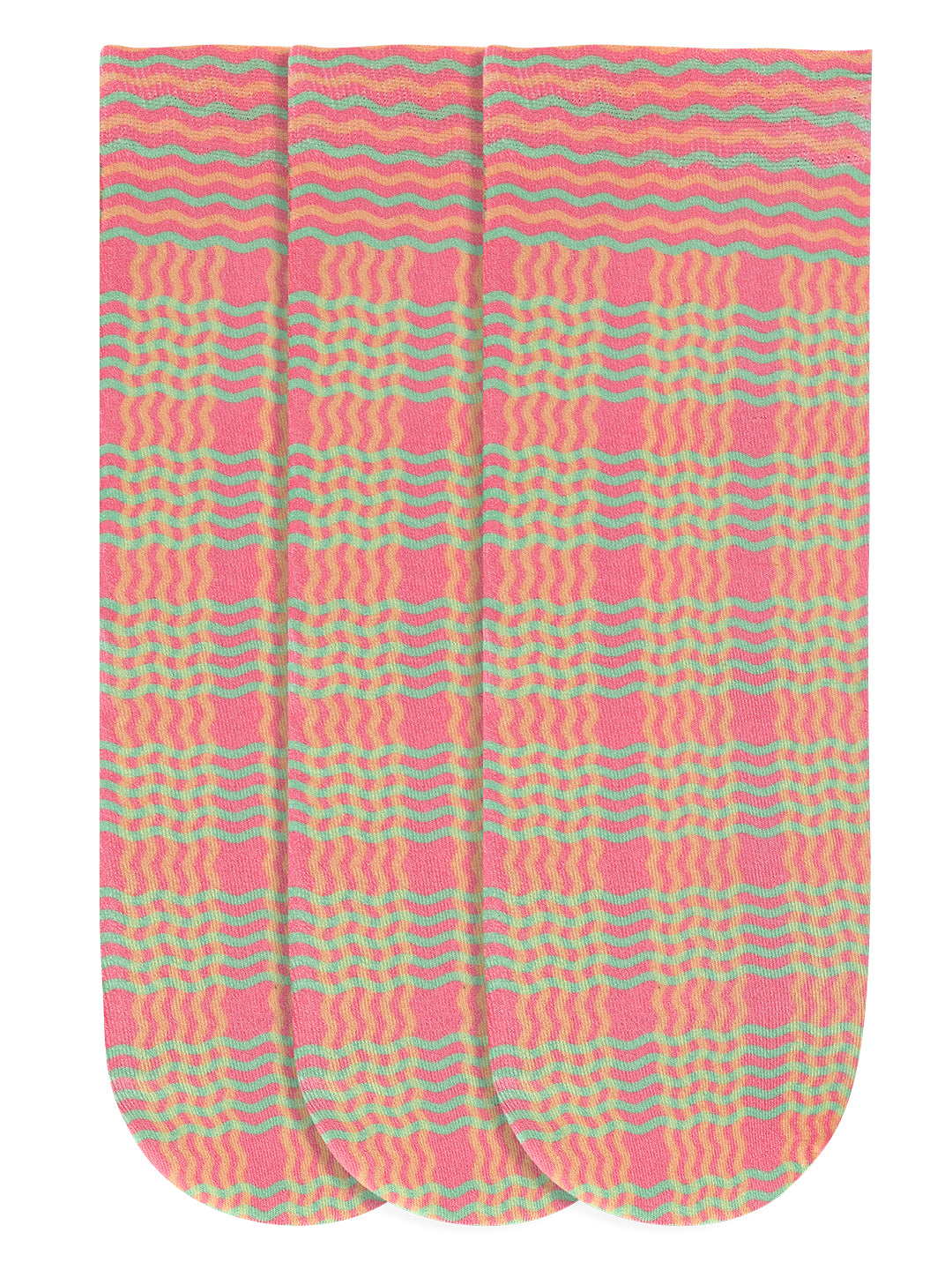 JUMP USA Women's Cotton Ankle Length Socks (Pink,Red,Green, Free Size) Pack of 3