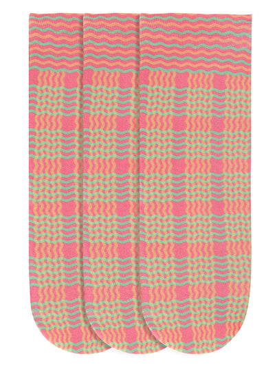 JUMP USA Women's Cotton Ankle Length Socks (Pink,Red,Green, Free Size) Pack of 3 - JUMP USA