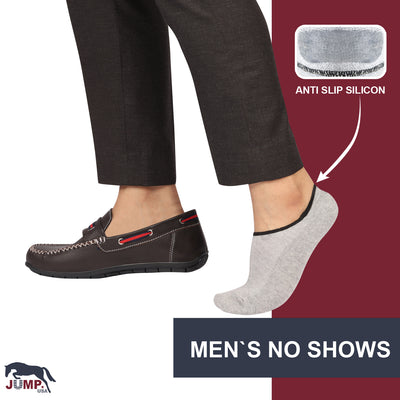 Men Pack of 4 Solid Shoeliners Socks - JUMP USA