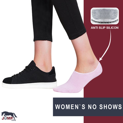 Women Pack of 4 shoe liner Socks - JUMP USA
