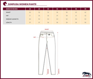 Women's Stylish U Pocket Cotton Jegging - Jump USA