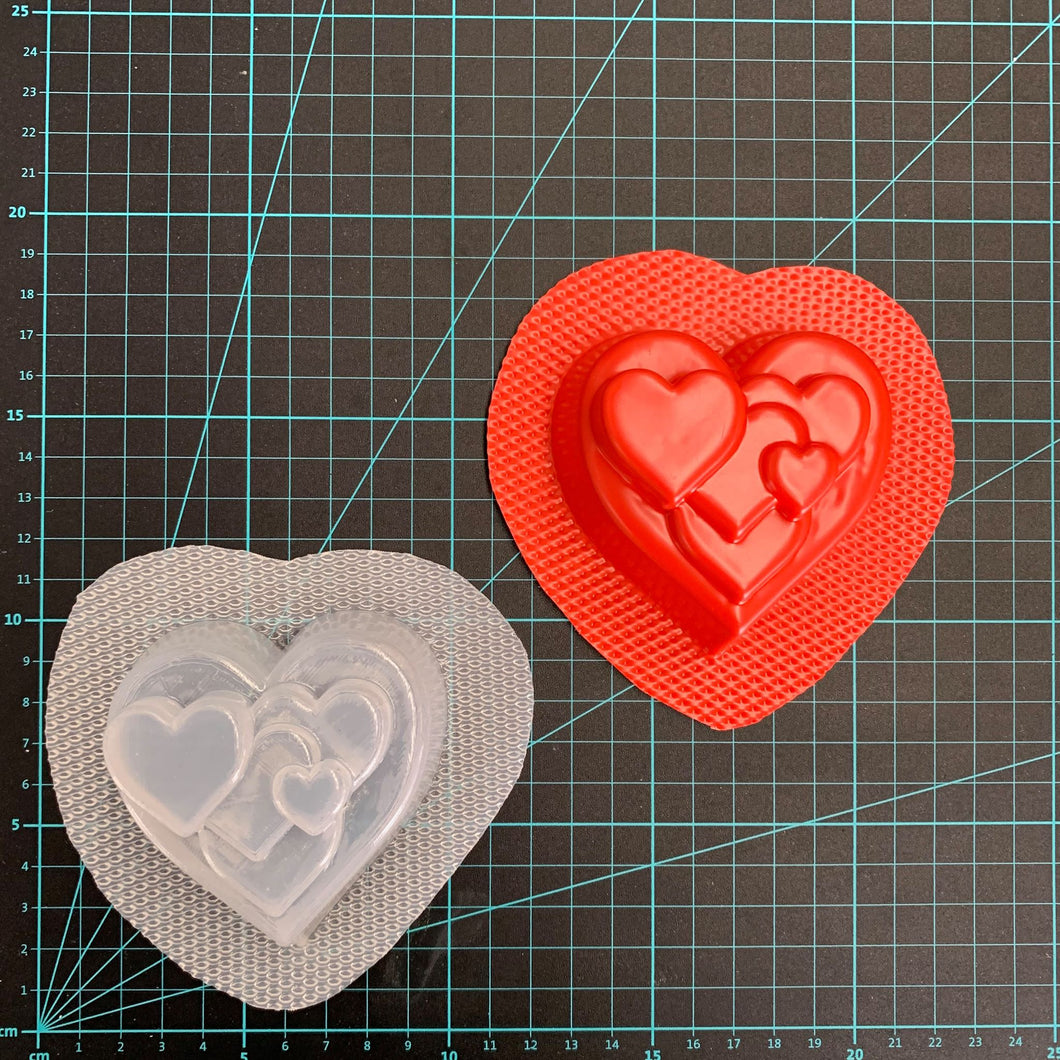 Bath Bomb World® Cluster Heart™ Bath Bomb Mould