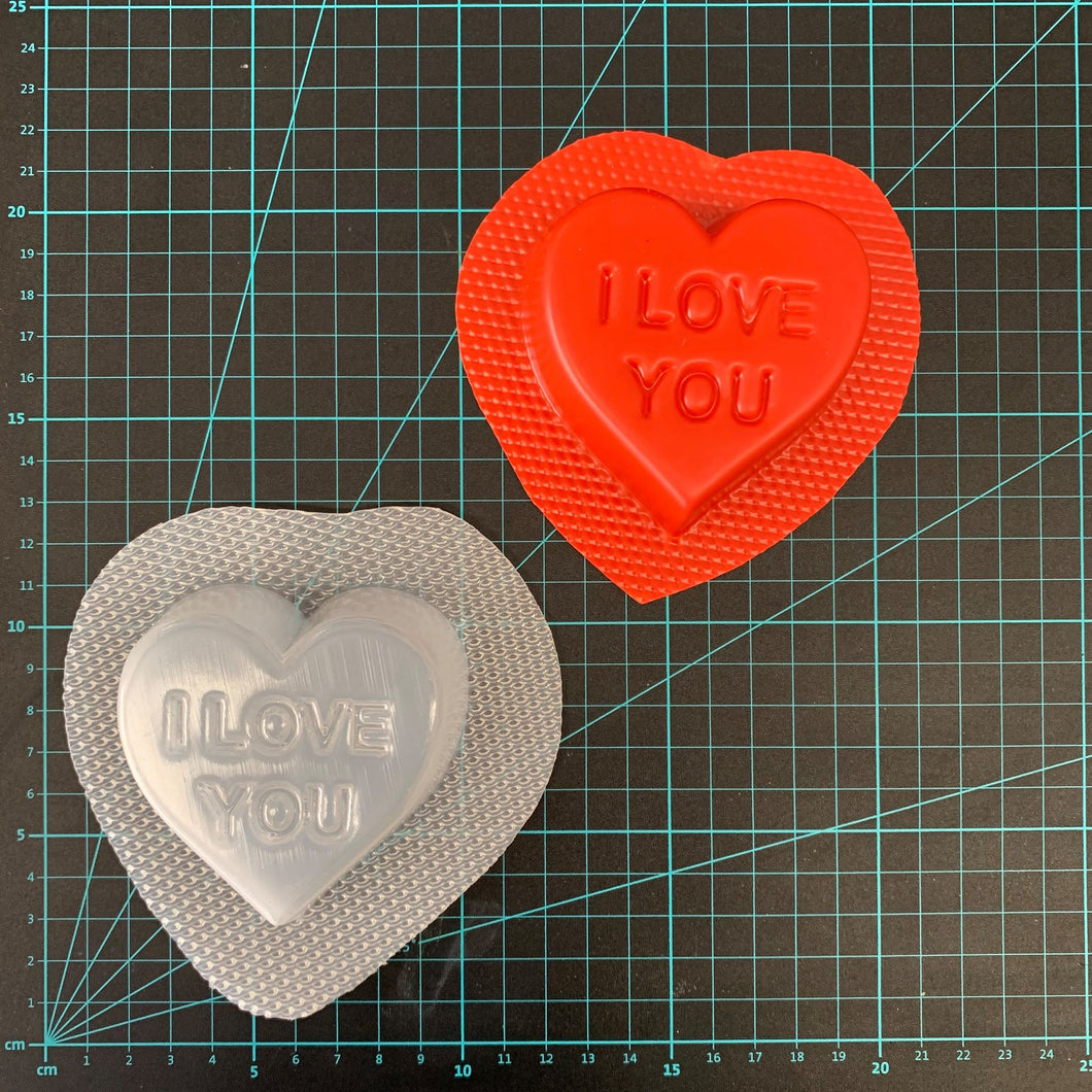 Bath Bomb World® I Love You Heart™ Bath Bomb Mould