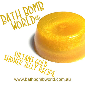 Bath Bomb World® Sultans Gold Shower Jelly Recipe