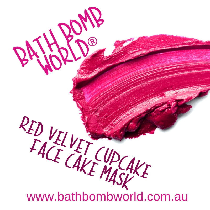 Bath Bomb World® Red Velvet Cupcake Face Cake Mask Recipe
