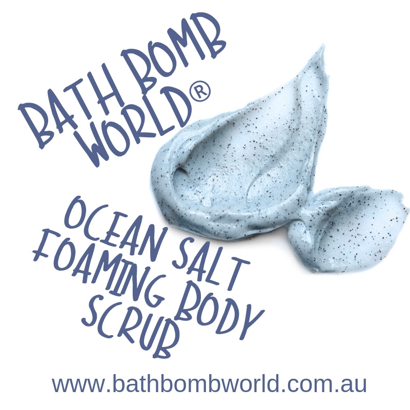 Bath Bomb World® Ocean Salt Foaming Body Scrub Recipe