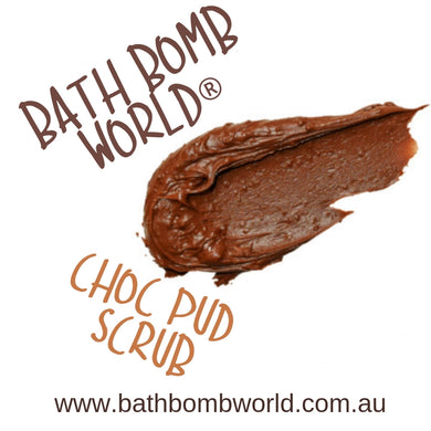 Bath Bomb World® Foaming Choc Pud Scrub