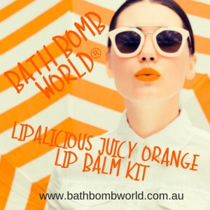 Bath Bomb Wolrd® Lipalicious Juicy Orange Lip Balm Kit