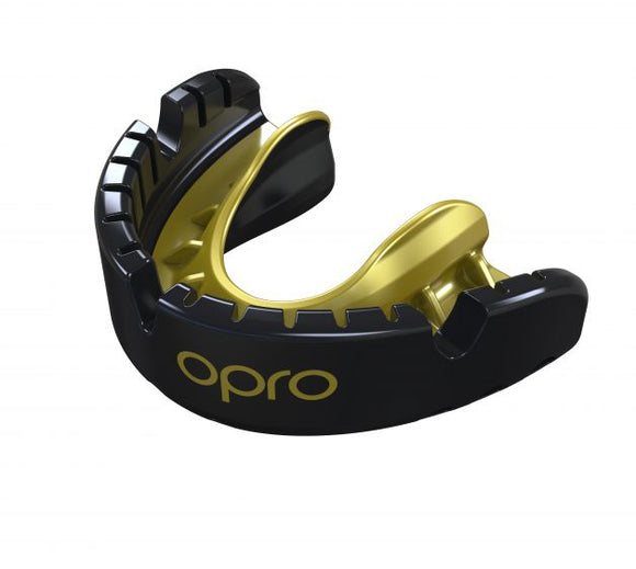 Gold Braces Mouthguard Black/Gold