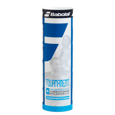 Babolat Tournament Nylon Shuttlecocks White (6 Pack)
