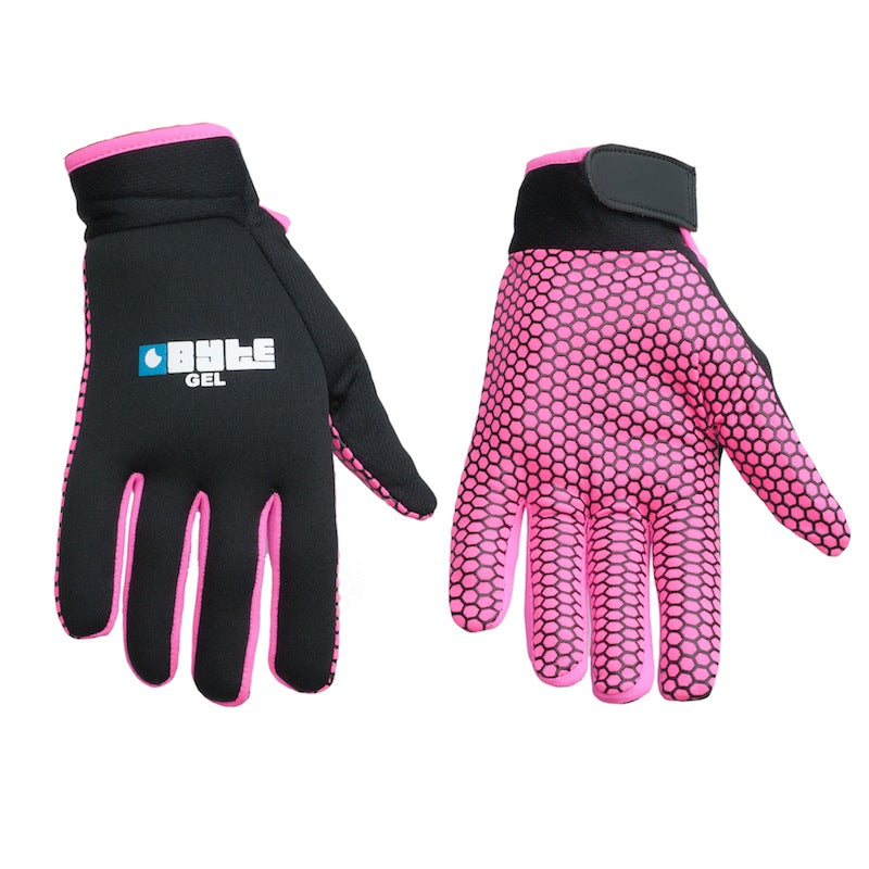 Gel Pro Skin Fit Hockey Gloves Black/Pink