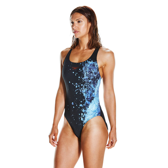Energy Flow Powerback Ladies Swimsuit Black/Blue