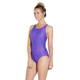 Boom Allover Splashback Ladies Swimsuit Blue/Purple