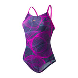 Cyclone Thinstrap Muscleback Ladies Swimsuit Navy/Purple