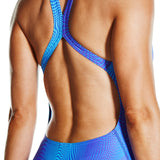 Liquefaction Powerback Ladies Swimsuit Violet/Turquoise