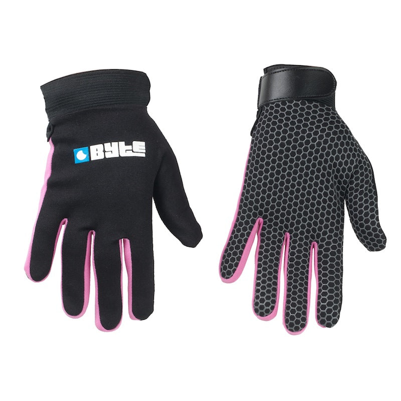 Skin Fit Hockey Gloves Black/Pink