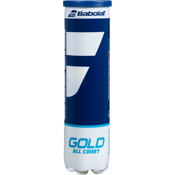 Gold All Court Tennis Balls (4 Ball Can)