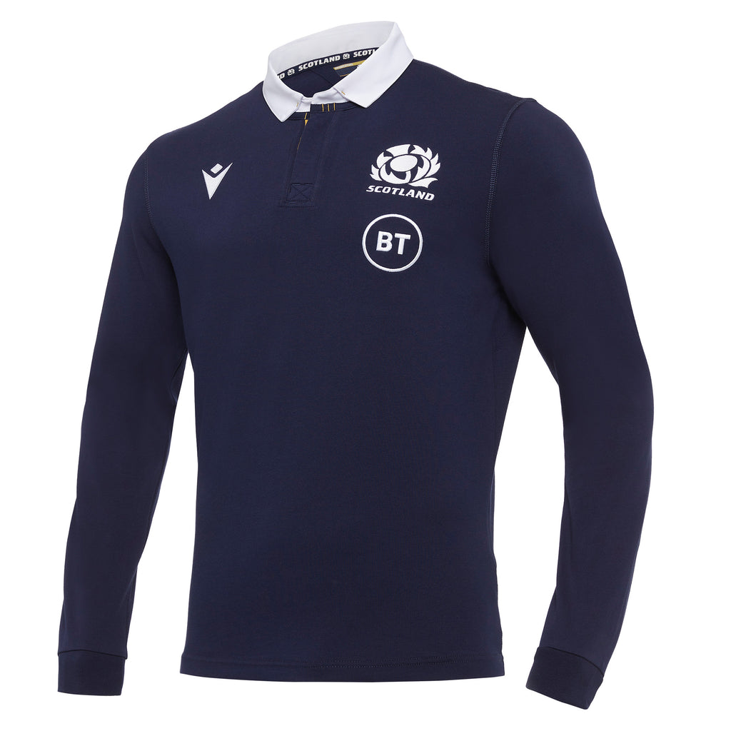 Scotland Rugby 20/21 Senior Home Cotton Replica Shirt L/S