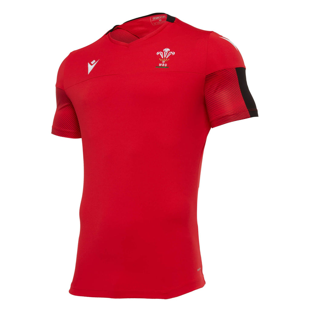 Wales Rugby 20/21 Poly Training Gym T-Shirt Red/Black