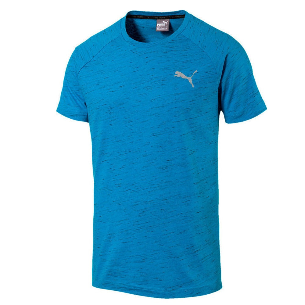 Evostripe Spaceknit S/S Tee Blue Heather