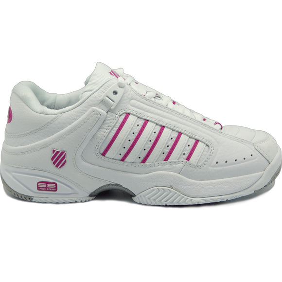 Defier Womens Tennis Shoes White/Pink