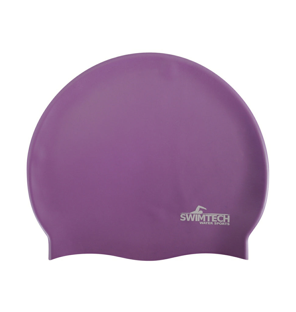 Silicone Swim Cap Purple