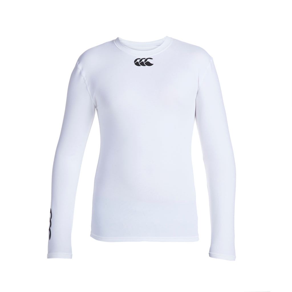 Baselayer Cold Long Sleeve Top Junior White
