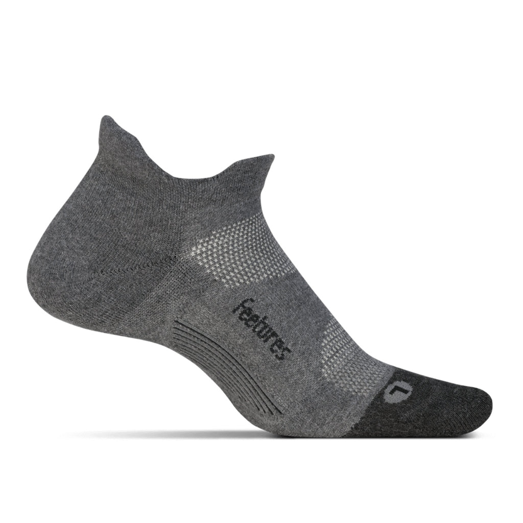 Elite Max Cushion Socks No Show Tab Grey