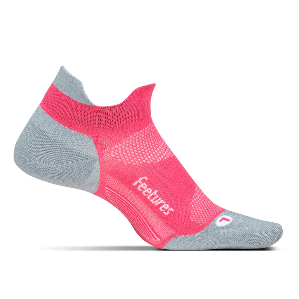 Elite Ultra Light Socks No Show Tab Coral