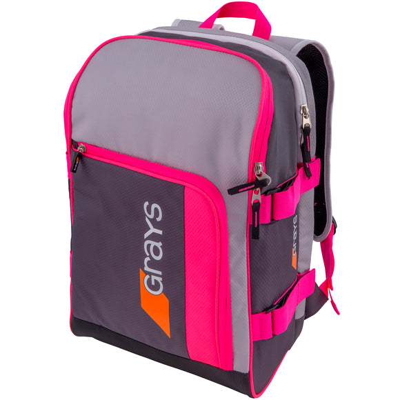 GR500 Hockey Backpack Grey/Pink