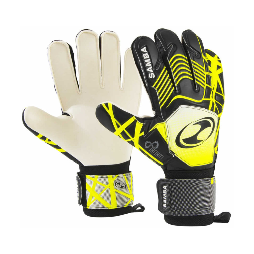 Infiniti Trainer Football Goalkeeping Gloves Black/Yellow