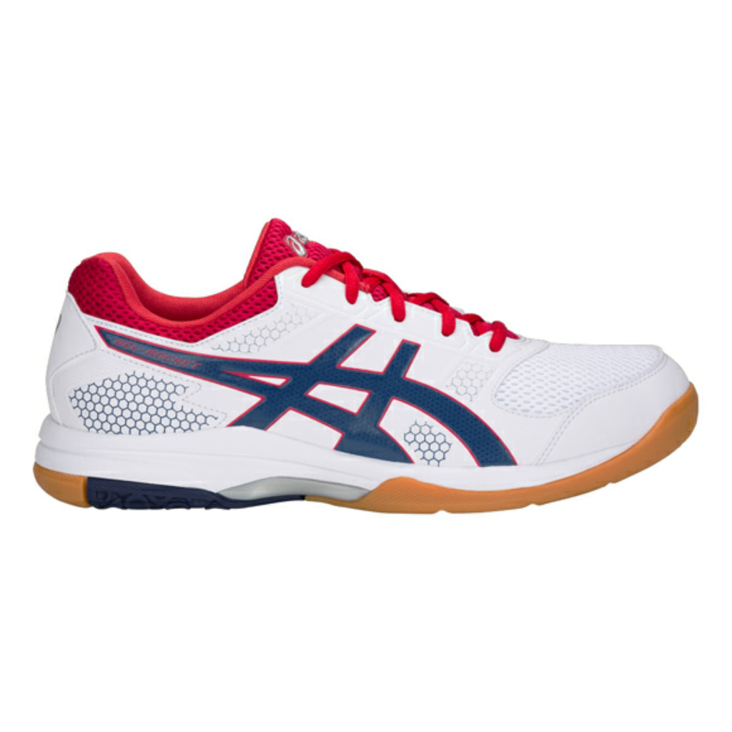 Gel-Rocket 8 Indoor Court Shoes White/Deep Ocean