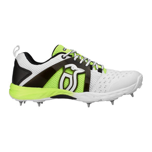 KCS 2000 Spike Cricket Shoe White/Lime