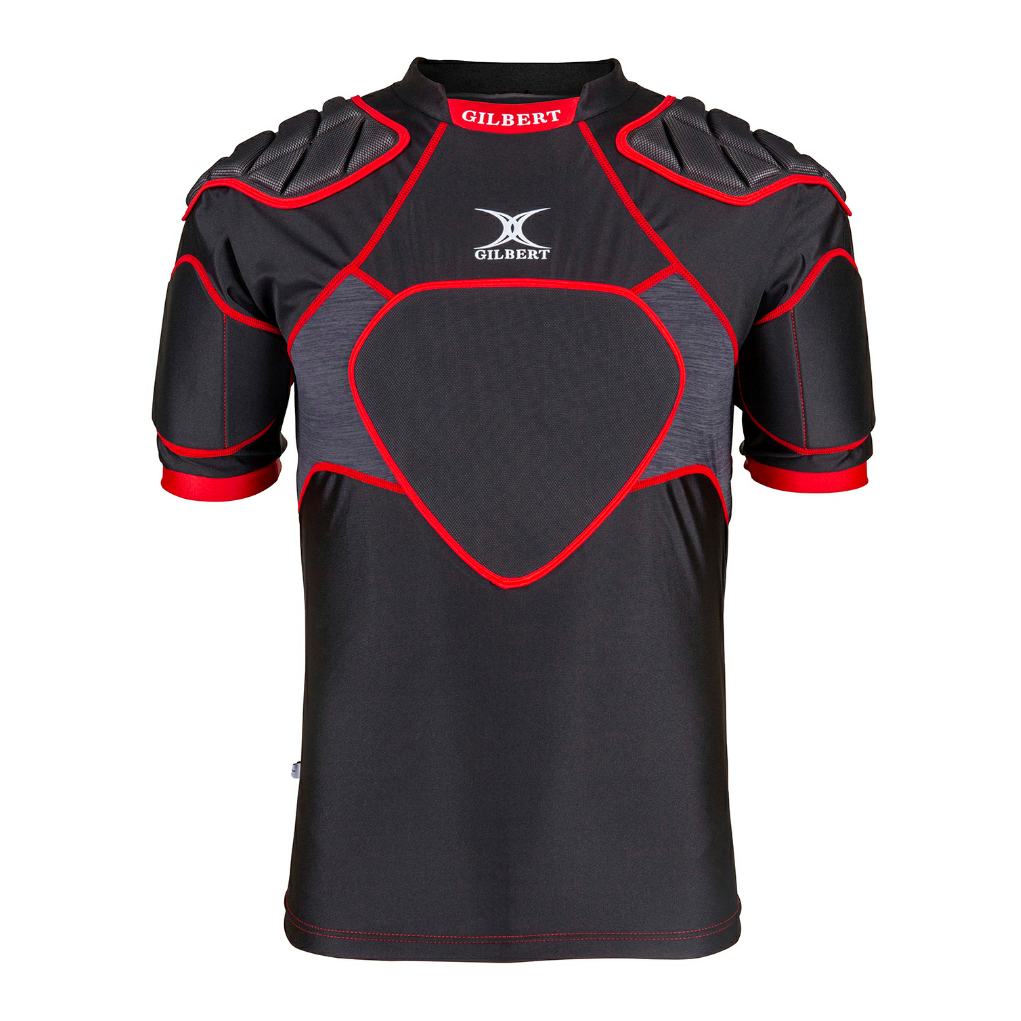 XP300 Rugby Body Armour Vest Black/Red