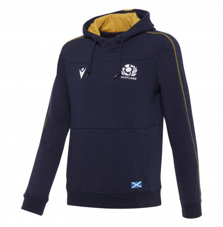 Scotland Rugby 20/21 Heavy Cotton Hoody Navy/Gold Kids