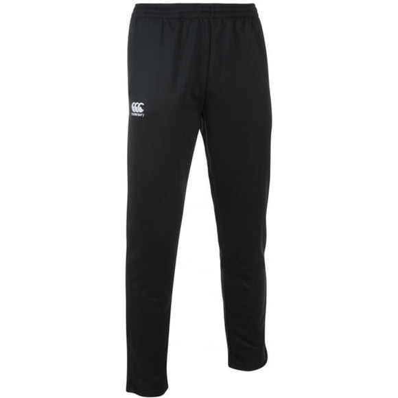 Stretch Tapered Poly Knit Pants Black