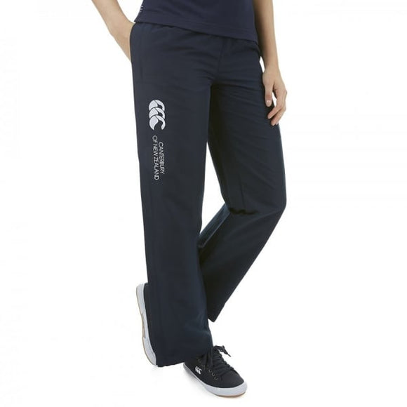 Open Hem Stadium Pants Ladies Navy