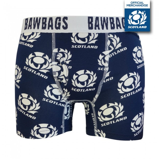 Scotland Rugby Badge Original Mens Boxer Shorts