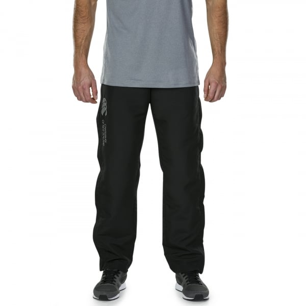 Tapered Open Hem Stadium Pants Mens Black
