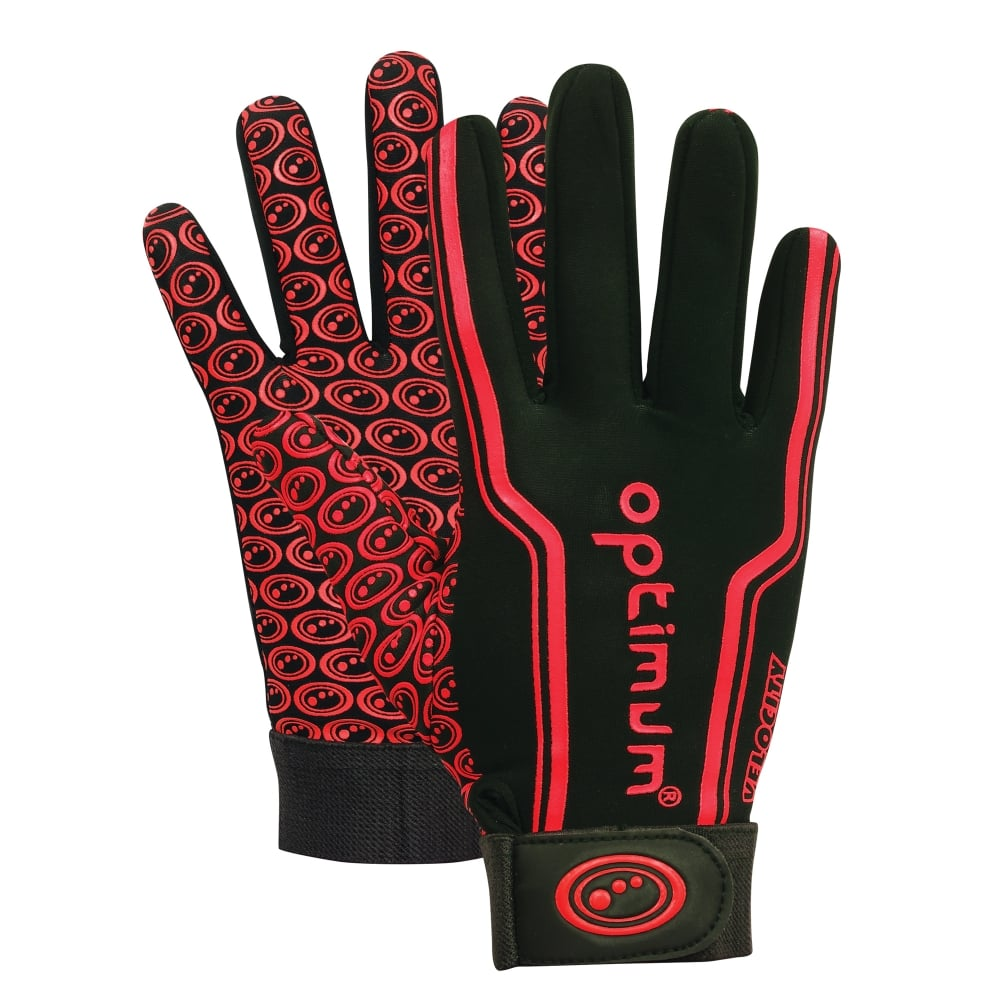 Velocity Thermal Rugby Gloves Red/Black